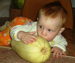 Кабачок-мой первый овощ!