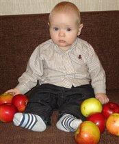 Люблю сладенькие яблочки.