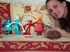 ножницы и нитки - кукла вышла прытко!