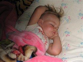Настена спит