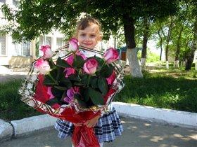 большой букет роз от папы