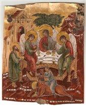Троица Гостеприимство Авраама, береста