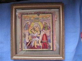 'Достойно есть'икона Пресвято  Богородицы  береста