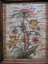 птицы на дереве,береста