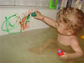 Обожаю рисовать, и в ванной тоже!!!