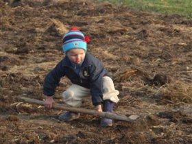 копаю огород