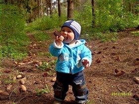 Вадимчик в лесу