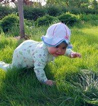 В траве сидел кузнечик, зелененький он был....