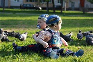 Травка, птички красота... Вместе весело всегда!