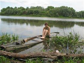 Едва не утонула)))))