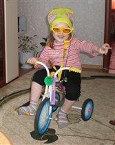 Модная велогонщица