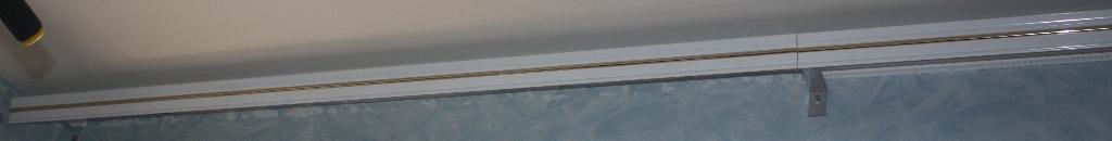 Карнизы белые алюминиевые 2 шт.