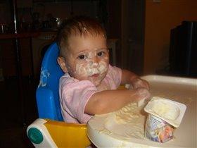 Йогурт всем для нас хорош, маску сделаем на нос!