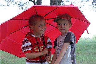 Под зонтиком нам не страшен дождь