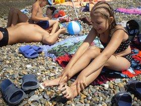 Адлер. пляж.