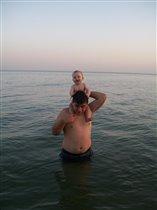 я с папой в море