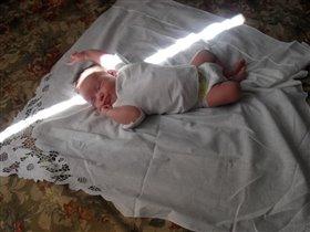 Первые лучи солнца в жизни Милашки!!!