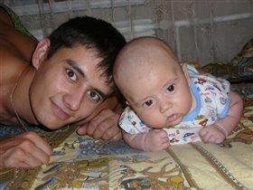 Папа с сыночком