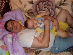 Баю баюшки баю, сладко с папочкой я сплю!