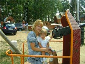 С дочкой Аней!