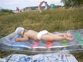 Сплю на пляжу