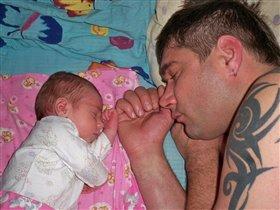 Микро сын и Мега папа