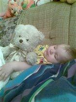 'Маня' и Даша спят))