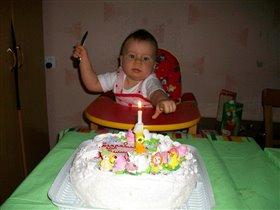праздничный торт... сейчас я его съем!