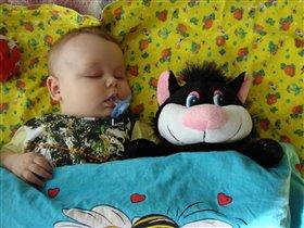 Спит сынишка сладко сладко!