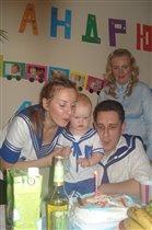 Первый день рождения будущего моряка