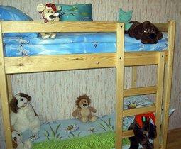 Кроватка крупным планом