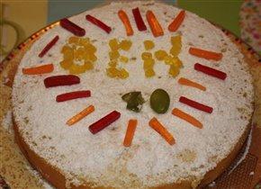 Бисквит сливово-персиковый 'Ben 10'