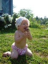 Хорошо в деревне летом!!! Можно травку пощипать:))