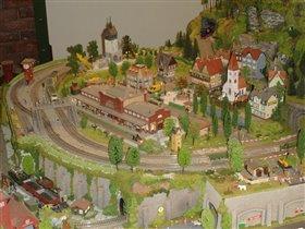 макет с поездами