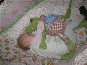 малышка устала