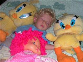 Спят усталые игрушки и ребята, и зверушки