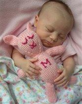 Розовые сны с розовым зайцем.