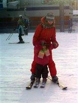 Ради мамы и на лыжи встанешь...