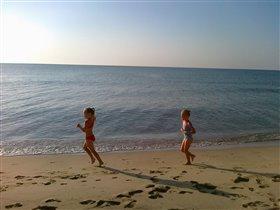 Утренняя тренировка на пляже