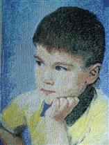 Вышитый портрет