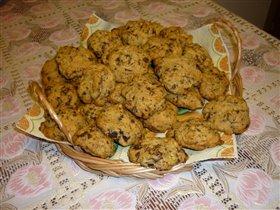 Печенье с Шоколадом и Грецкими орехами.