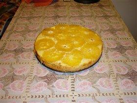 Пирог с творогом и апельсинами.