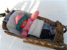 Хорошо зимю в санках