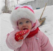 Какой вкусный снег!!!