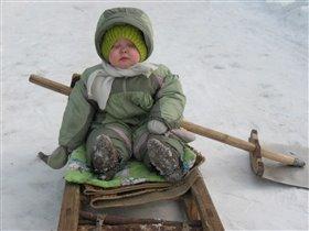 Эти снежные забавы уморили...ЗАСЫПАЮ...