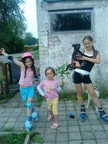 3 девчонки и собака