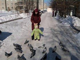 Прогулка с мамой