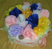 Фотоконкурс «Веселые поделки» Цветочный тортик