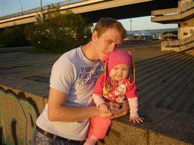 Папа с любимой дочкой!