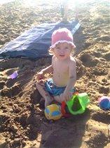 пляж - огромный песочник